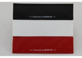1 pair Large patches blank black, white or red, 16x5cm / 6.3 x 1.97