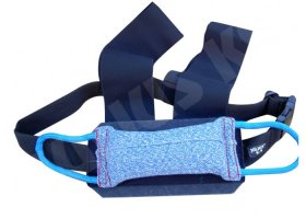 Chest strap with tug