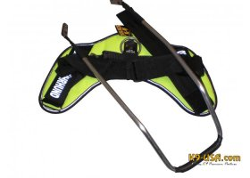IDC blind guide dog harness, neon