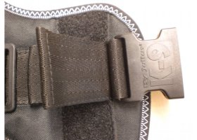 Julius K9 powerharnesses -black- with safety buckle!