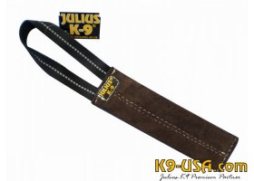 Tug, leather, flat, 7.87 inch long