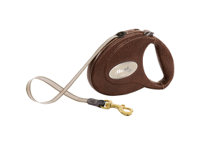 flexi Luxury leather 5m tape leash, 2 colors, for dogs->25kg