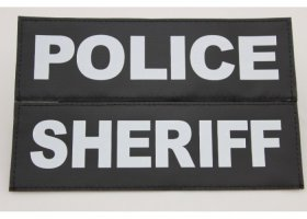 LARGE patches with reflective print POLICE, SECURITY...