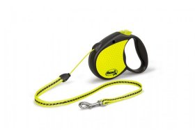 flexi SPECIAL, 5m cord leash, NEON, size S for dogs->12kg